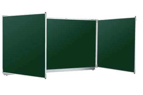 Tableau triptyque vert craie - Vanerum Classic 120x400 cm (ouvert)