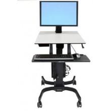 Poste mobile assis-debout bi-écran WorkFit-C ERGOTRON