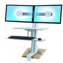 Poste bi-écran WorkFit-S