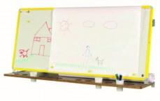 Chevalet  Mural 60x140 cm, jaune RAL 1003 émail e3 blanc feutre